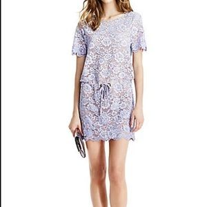 New DVF Amal Lilac lace & crystal dress Size S NWT